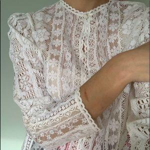 Vintage 1970s Miss Dior Lace Top